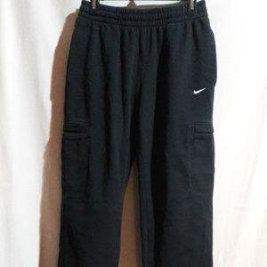 Nike Black Sweatpants with Pockets (Size M)